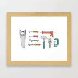 Hand Tool Family Framed Art Print