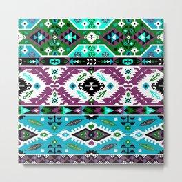Boho Navajo Geometric Var. 12 Metal Print