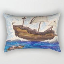 The Same Boat Rectangular Pillow