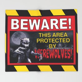 Beware! This Area Is Protected by Werewolves! Throw Blanket