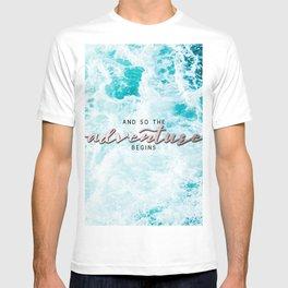 Adventure Begins - Perfect Sea Waves T-shirt