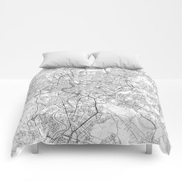 Rome Map Line Comforters