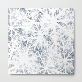 Abstract Blizzard: Snow in a Whiteout Metal Print