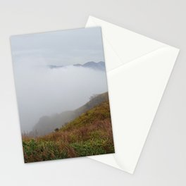 mount aso in the mist Stationery Cards