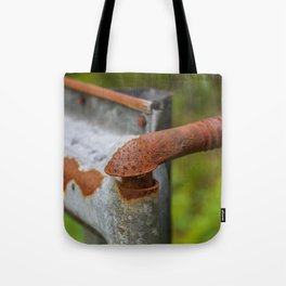 Rusted Fencepost Tote Bag