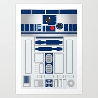 r2d2 Art Prints featuring R2D2 by ANDY