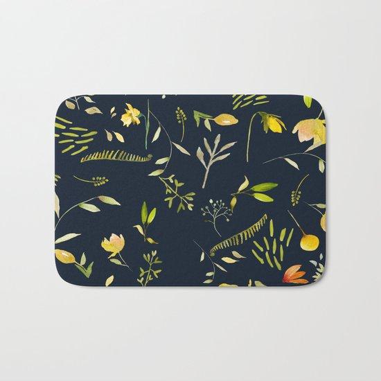 Yellow garden Bath Mat