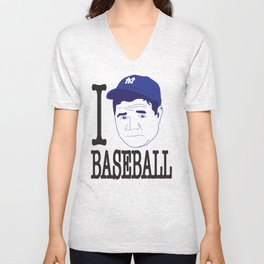 I __ Baseball Unisex V-Neck