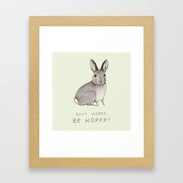 Don't Worry Be Hoppy Framed Art Print