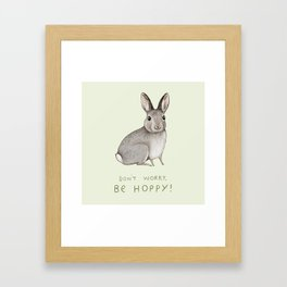 Don't Worry Be Hoppy Framed Art Print