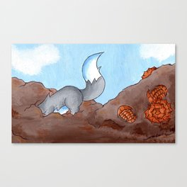 Fossil Dig Canvas Print
