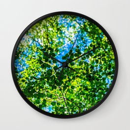 Linden Tree Leaves. Summer Shade Wall Clock
