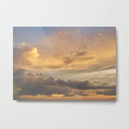 Golden Skies Metal Print