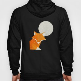 Origami Fox and Moon Hoody