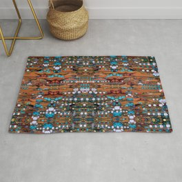 Abstract Indian Boho Rug
