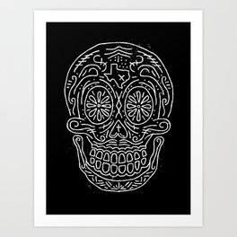 Texas Sugar Skull Art Print