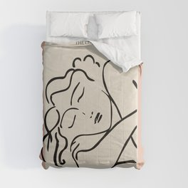 Henri matisse sleeping woman, matisse cut outs, cream and pink Comforters