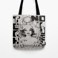 technology Tote Bags featuring technology by Robson Clecio