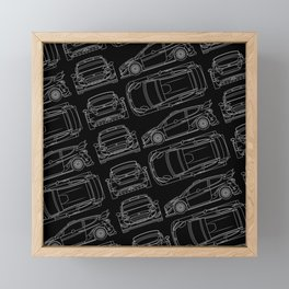 F Fiesta RS WRC Rally Framed Mini Art Print