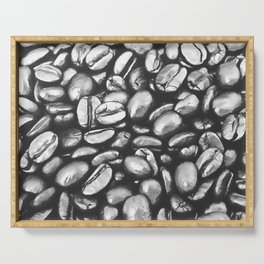 roasted coffee beans texture acrbw Serving Tray
