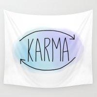 karma Wall Tapestries featuring Karma by Vwyz
