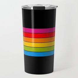 retro camera stripes Travel Mug