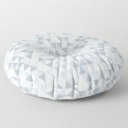 shades of ice gray triangles pattern Floor Pillow