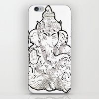 ganesha iPhone & iPod Skins featuring Ganesha by Sofia Bernikova