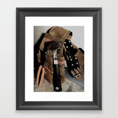 Hard Day at Work Framed Art Print