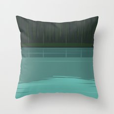 Minimal Lake Pines Throw Pillow