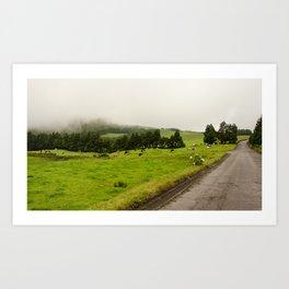 Dans le brouillard Art Print