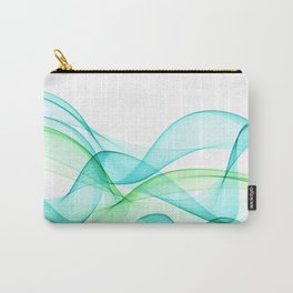 Sea Wave Pattern Abstract Aqua Blue Green Waves Carry-All Pouch