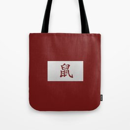 Chinese zodiac sign Rat red Tote Bag