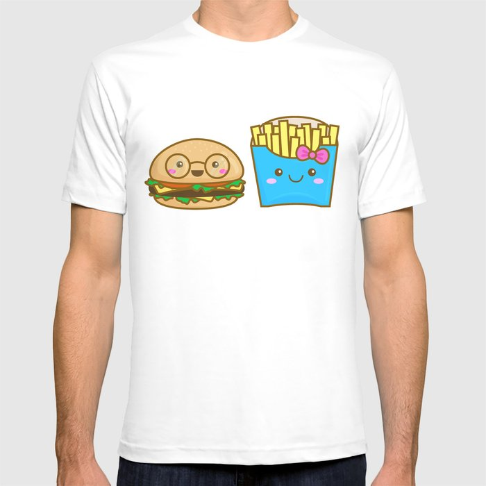 We go together like burger and fries T-shirt