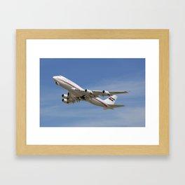 Dubai Air Wing 747-422 A6-HRM Framed Art Print
