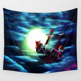 the sunny flaying Wall Tapestry