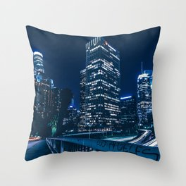 Los Angeles Night Throw Pillow