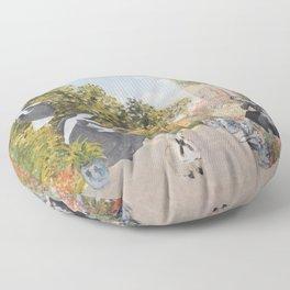 A Fine Day a la Monet Floor Pillow