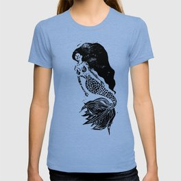 Mermaid Linocut T-shirt