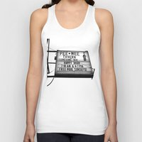 pee wee Tank Tops featuring Pee Wee tavern sign by Vorona Photography