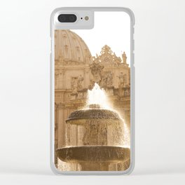 Bernini's Fountain Clear iPhone Case
