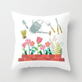 Gardener Tools Throw Pillow