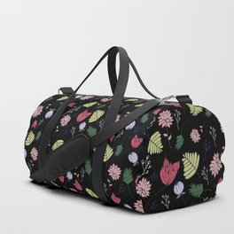 Dark Floral Duffle Bag