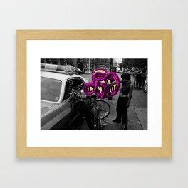BLACKDOG boys & cop Framed Art Print