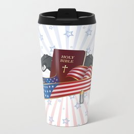 Independence Day Metal Travel Mug