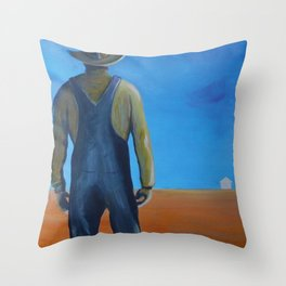 The Promise of the Yellow Handbill Throw Pillow