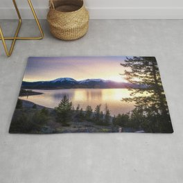Lake Dillon, Colorado Sunset Rug