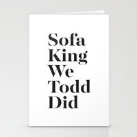 sofa Stationery Cards featuring Sofa King by Black Sole