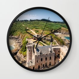Castle in  Brittany Wall Clock