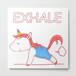 Unicorn Exhale Phoni Metal Print